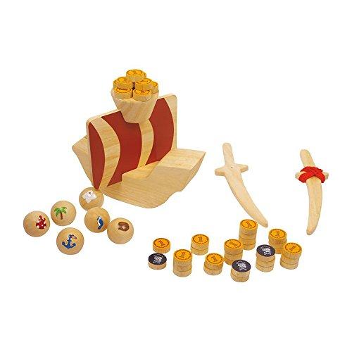 Goki-56886 Juegos de acción y reflejosJuegos de mesaGOKIJuego de Piratas para pólder, Captain Koog, Multicolor (4013594568869)