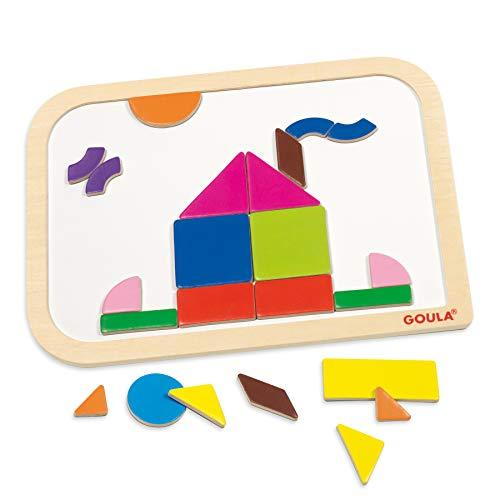 Goula- Magnetic Shapes, Multicolor (Ref. 53155) , color/modelo surtido