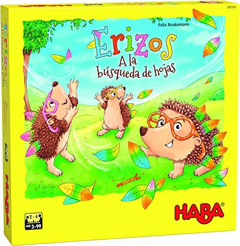 HABA- Erizos – A la búsqueda de Hojas-ESP Juego de Mesa (Habermass H305591)