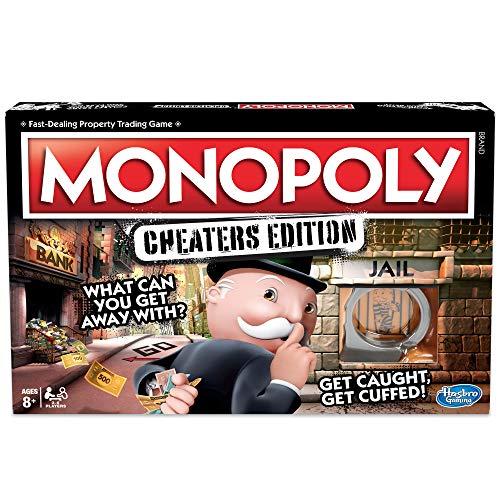 Hasbro Gaming monopolio de juego: Cheaters Edition para niños de 8 años en adelante, color negro, talla única (E1871102) , color/modelo surtido
