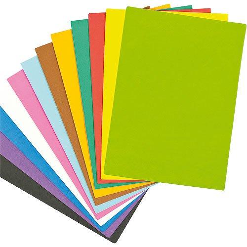 Hojas de Espuma Colorida de 29cm x 21cm. Perfectas para Crear Modelos Decorar y Personalizar Diferentes Manualidades (Pack de 18)