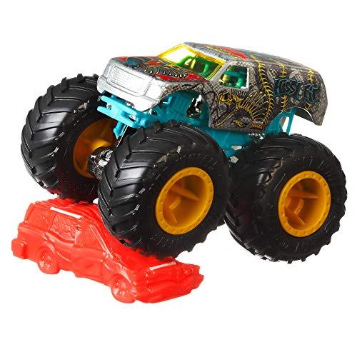 Hot Wheels Monster Trucks 1:64, modelso surtidos, coches de juguetes para niños + 3 años (Mattel FYJ44)