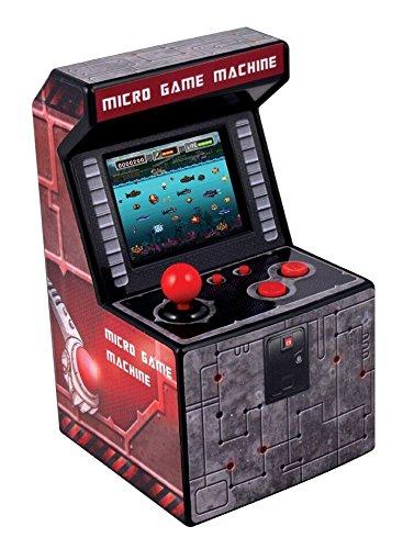 ITAL Mini Recreativa Arcade (Rojo) / Mini Consola portátil de diseño Retro con 250 Juegos / 16 bits / Máquina Perfecta como Regalo Friki para niños y Adultos