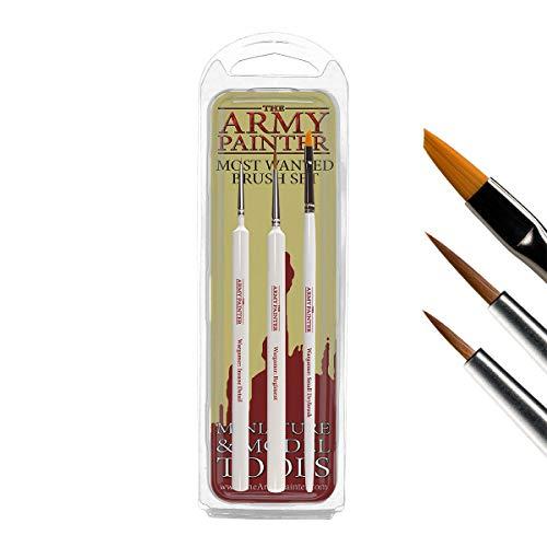 Juego de 3 pinceles de pintura en miniatura de The Army Painter