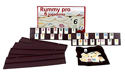 Juego Rummikub 6 jugadores. 106 fichas de plastico macizo