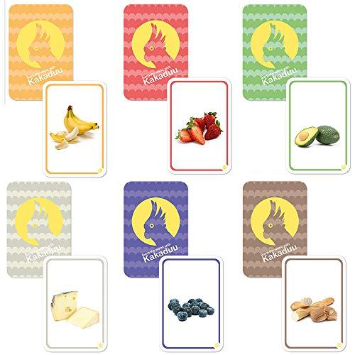 Kakaduu Mis primeras Palabras - Comida. 50 Tarjetas con Fotos de Alimentos para apoyar el Desarrollo del lenguaje de los niños pequeños. Un Juguete de Aprendizaje Montessori.