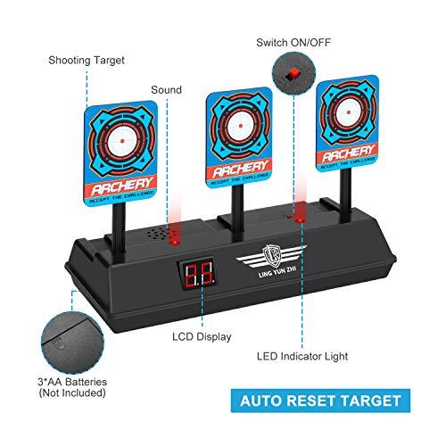Keten Objetivo Digital Electrónico para Pistolas Nerf con Restablecimiento Automático, Efectos Inteligentes de Sonido y Luz, para Nerf N-Strike Elite/Mega/Rival Series (Solo Objetivo)