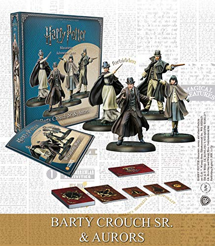 Knight Models Tabletop - Miniature Game Resina - Harry Potter Barty Crouch Sr. and Aurores Spanish