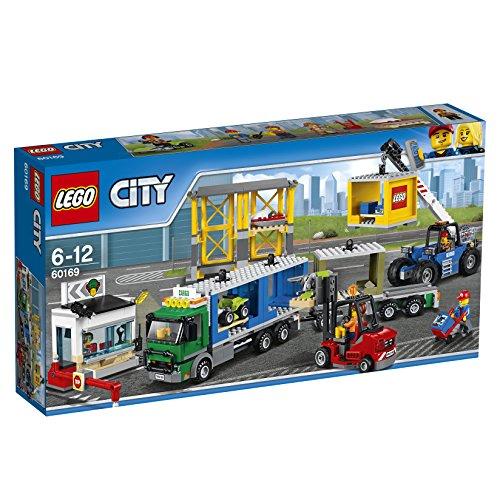 LEGO-60169 City Town: Terminal de mercancías, Multicolor, Miscelanea (60169)