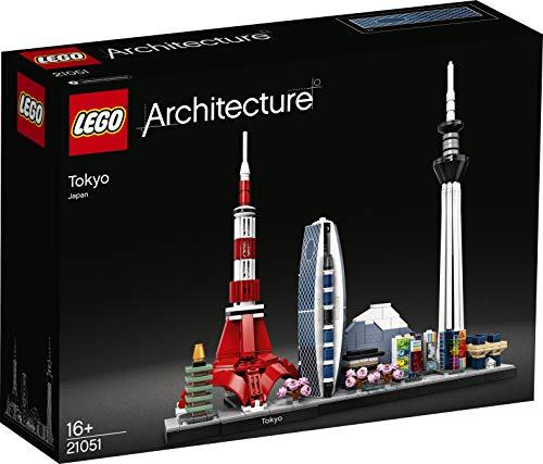 LEGO Architecture - Tokio, Maqueta para Montar el Skyline de la Ciudad Japonesa, Set de Construcción Coleccionable, Recomendado a Partir de 16 Años (21051)