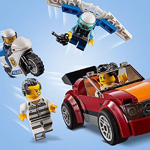 LEGO City Police - Policía Aérea: Base de Operaciones, Juguete de Avión y Aventuras para Construcción, Incluye Paracaídas Eyectable (60210)