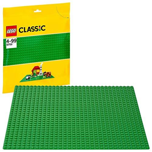LEGO Classic - Base de Color Verde, Juguete de Construcción que Mide 25 centímetros de Lado, Genial para Complementar Todos tus Sets y Juegos (10700)