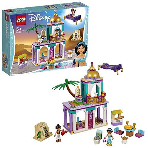 LEGO Disney Princess - Aventuras en Palacio de Aladdín y Jasmine, juguete creativo de construcción (41161)