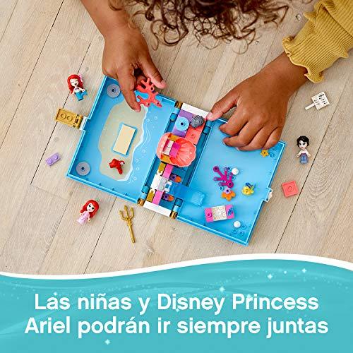 LEGO Disney Princess - Cuentos e Historias: Ariel Set de Construcción, Juguete de La Sirenita, Incluye Mini Muñecas de Ariel, Flounder, Sebastián y el Príncipe Eric, a Partir de 5 Años (43176)