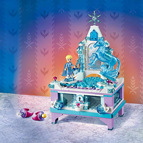 LEGO Disney Princess - Joyero Creativo de Elsa, Set de construcción con cajón con cerradura, espejo y plato giratorio, Incluye Minifigura de Nokk, Juguete de Frozen 2 (41168)
