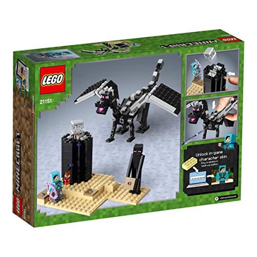 LEGO Minecraft - La Batalla en el End, juguete divertido de construcción y aventuras basado en el videojuego (21151)