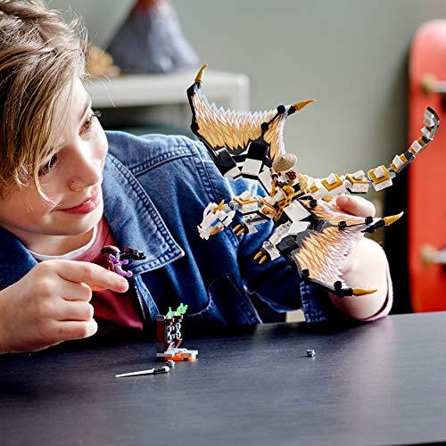 LEGO Ninjago - Dragón de Batalla de Wu, Juguete dragón Nija a partir de 7 años, Dragón de juguete con minifiguras de Wu y Gleck, Set de construcción de aventuras ninjas (71718)