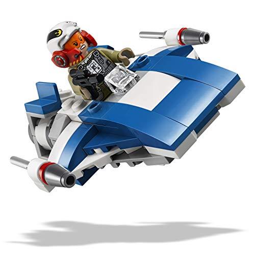 LEGO Star Wars-A- Wing vs Tie Silencer Microfighters Episode VIII Star Wars Juego de Construcción, Multicolor, única (75196)