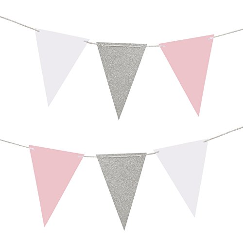 LUCK COLLECTION Pack de 2 Banderines Banderines Banners para Cumpleaños Boda Baby Shower Decoraciones 10 Pies Cada uno