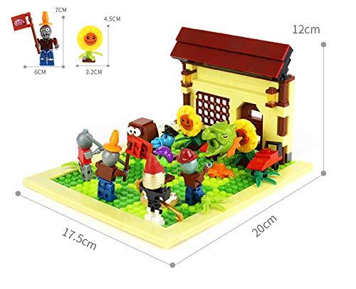 MAGMABRICK Plants Vs Zombies: Zombie Set y Plant 4X4 Battle Stage Building Compatible con Lego