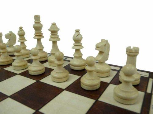MAGNÉTICA, madera sólida, juego de ajedrez