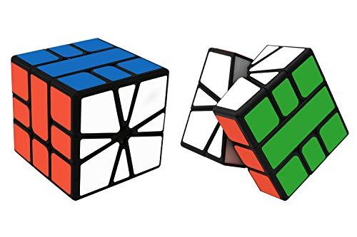 Maomaoyu Square One Cube Square 1 Magico Cubo de la Velocidad Negro