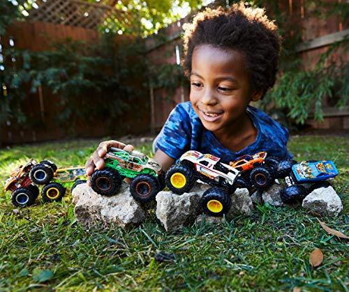 Mattel - Hot Wheels Monster Truck Duos FYJ64 de Demolición, modelos aleatorios, paquete de 2, modelos surtidos