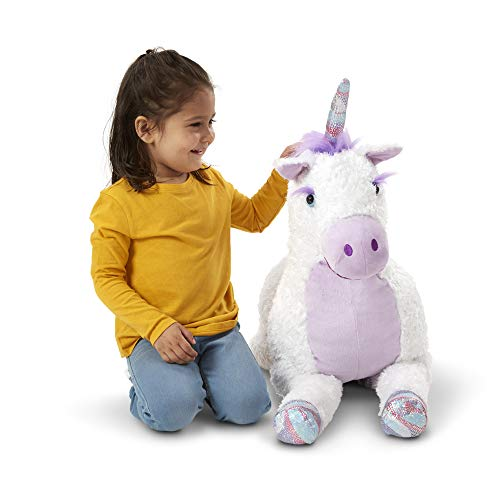 Melissa & Doug- Jumbo Misty Unicorn Peluches (40405)