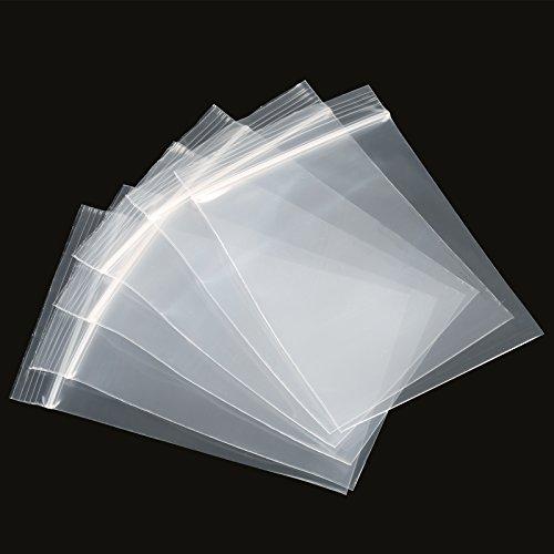 Naler 200 Bolsas de Plástico Transparente con Cierre Hermético Reutilizable para Alimentos Regalos Joyerías (5x7cm)