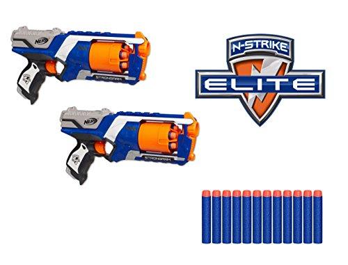 Nerf N-Strike Elite Disruptor, Pack de 2 Pistolas con Capacidad de 6 Dardos en el Tambor rotatorio