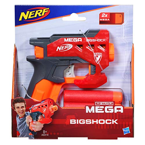 Nerf- N-Strike Mega BigShock Blaster Lanzadardos (Hasbro A9314EU4)
