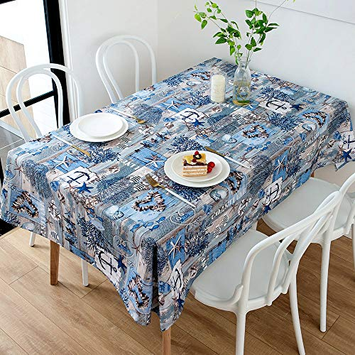 nobranded Nordic Minimalist Style Tablecloth, Blue and Green, Suitable for Kitchen, Restaurant, Garden, Cafe, Buffet, Banquet Indoor or Outdoor Table Decoration
