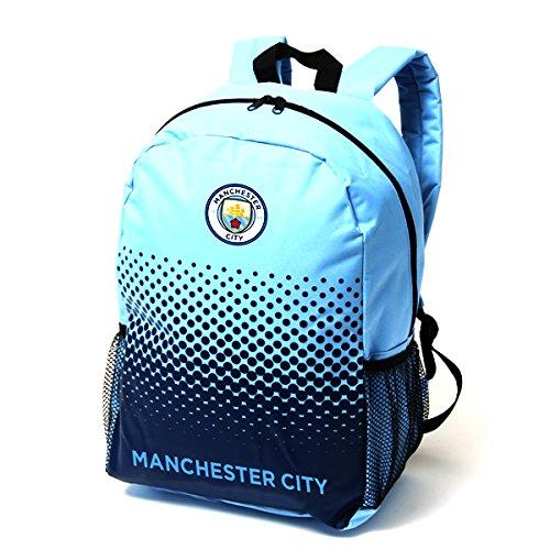 Oficial Equipo De Fútbol Ajustable Cremallera Bolsa Mochila Mochila (varios clubes a elegir.), Manchester City FC