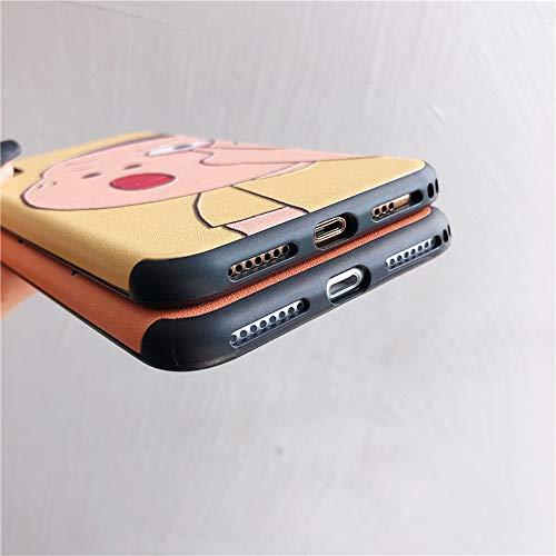 Oihxse Silicona Gel Suave Funda Compatible con Huawei Mate 20 Pro Blando Estuche Animados Creativo Pintura Simple de Alivio 3D Protectora Carcasa Teléfono Caso Bumper (Naranja)