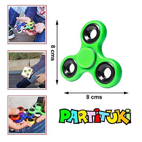 Partituki Pack de 10 Spinners de Metal. Idea Genial para Regalos de Cumpleaños para los Niños de la Clase, Regalos de Comuniones, Bodas…