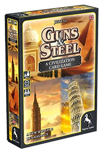 Pegasus Spiele 18286E Guns und Steel, A Story of Civilization - Juego de Mesa (edición en inglés)