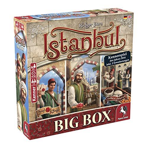 Pegasus Spiele 55119G Istanbul Big Box Kennerspiel Des Jahres 2014 - Juego de Mesa (Contenido en alemán)