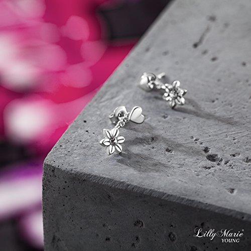 Pendientes de plata de ley 925 LillyMarie, con cristales originales Swarovski, en doble paquete de regalo