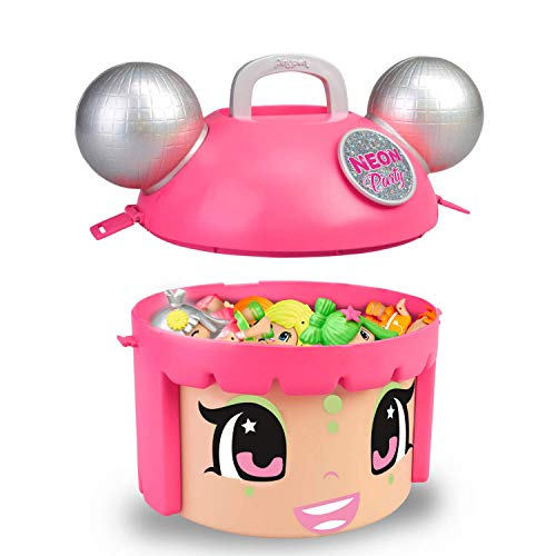 Pinypon Mix & Match Neon Party - Contenedor con 5 Figuras exclusivas, de 4 a 8 años (Famosa 700015210)