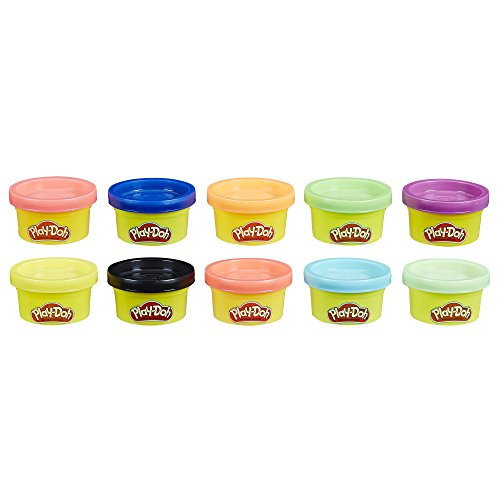 Play-Doh, multicolor, Pack 10 Mini Botes (Hasbro 22037EN2) , color/modelo surtido