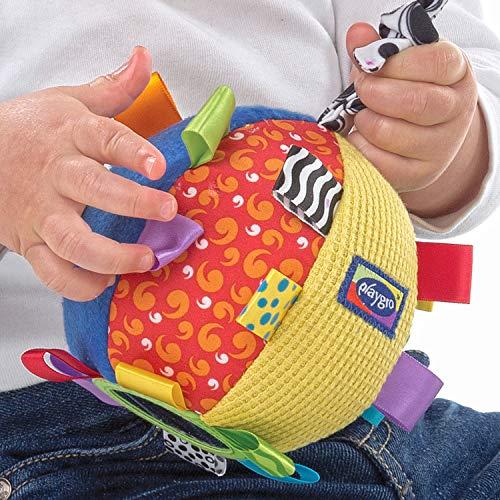 Playgro Mi Primera Pelota de Peluche, Juguete de Actividades, Desde los 3 Meses, Loopy Loops, Multicolor, 40079