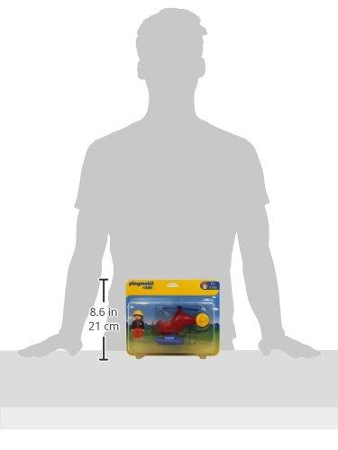 Playmobil 1.2.3 Helicóptero de Rescate 6789
