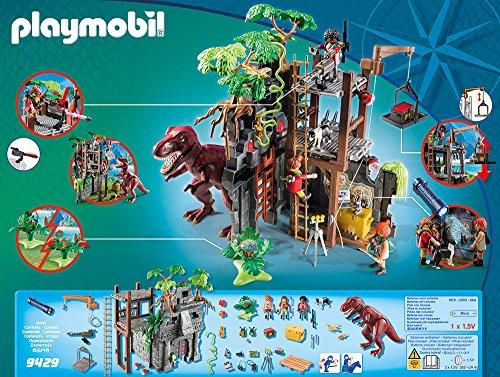 PLAYMOBIL Dinos Campamento Base con T-Rex y Efectos de Luz, a Partir de 4 Años