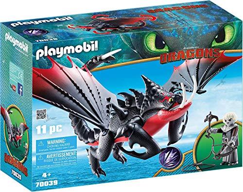 PLAYMOBIL DreamWorks Dragons Aguijón Venenoso y Crimmel, a Partir de 4 Años (70039)