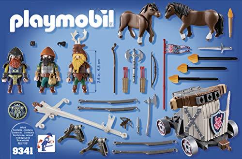 PLAYMOBIL Knights Carruaje de Caballos con Ballesta Enanos, a Partir de 5 Años (9341)
