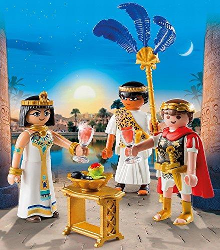 Playmobil Romanos y Egipcios - César y Cleopatra, Playset de Figuras de Juguete, Multicolor (Playmobil, 5394)