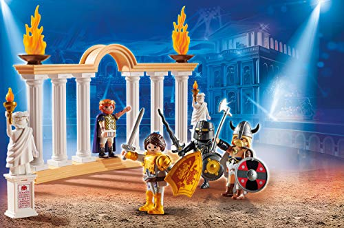 PLAYMOBIL: THE MOVIE Emperador Maximus en el Coliseo, a Partir de 5 Años (70076)