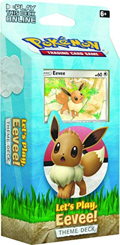 Pokémon POK80615 TCG: Let's Play Pikachu/Eevee Theme Deck (uno al azar), varios colores , color/modelo surtido