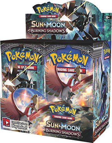Pokèmon pok81230TCG Sol y Luna Burning Sombras Booster Display Juego