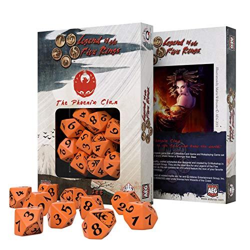 Q Workshop Legend of Five Rings Phoenix Clan RPG Dice Set 10 x D10 RPG